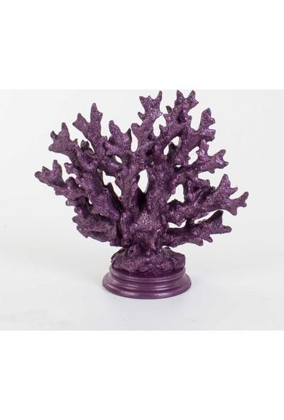 Piyop Mor Mercan Dekor 25 x 24 cm