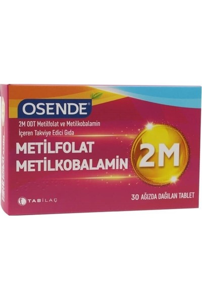 Osende 2m Metilfolat Metilkobalamin 30 Tablet