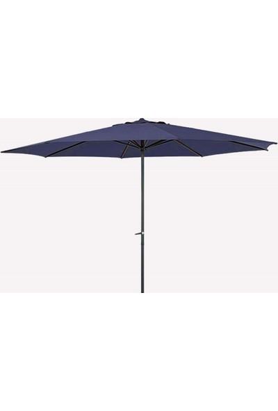 Bidesenal Bahçe Şemsiyesi 3 Metrelik Makaralı Balkon Şemsiyesi Teras Şemsiye Havuz Şemsiye Gölgelik
