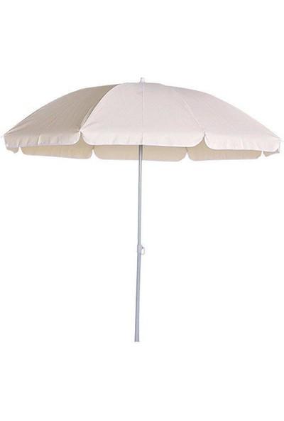 Bidesenal Bahçe Şemsiyesi 2,5 Metrelik Balkon Şemsiye Teras Şemsiye Havuz Şemsiye Plaj Şemsiye Gölgelik 250 Cm