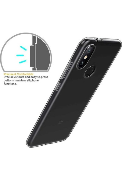 Casestore Huawei Y6 Pro 2019 Airbag 0.5mm Şeffaf Silikon Kılıf + Nano Ekran Koruyucu