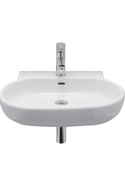 Kale Vitrifiye Zero 60*50 cm Oval Seramik Beyaz Lavabo