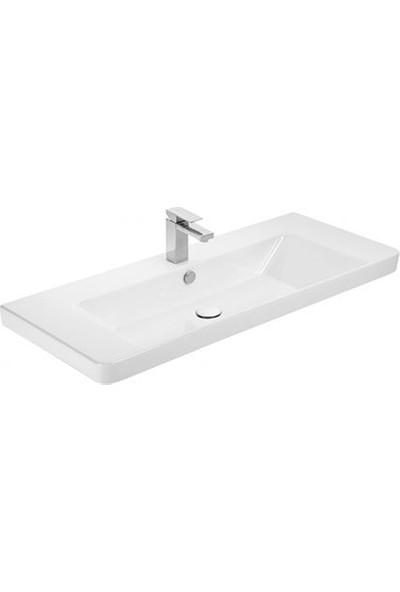 Sanovit Luxury 105 cm Konsollu Lavabo Beyaz Renk