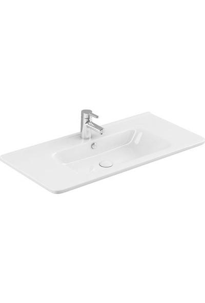Sanovit Urban 105 cm Konsollu Lavabo Beyaz Renk
