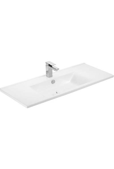 Sanovit Atria 100 cm Konsollu lavabo Beyaz