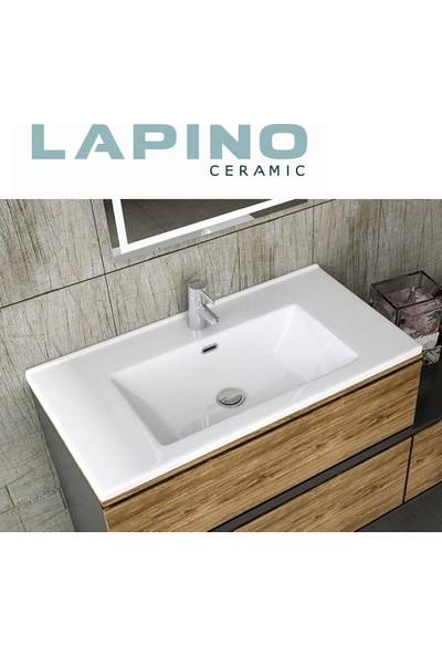 Lapino Etna 100 cm Seramik Beyaz Lavabo