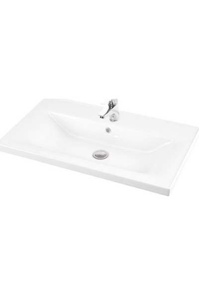Lapino Sava 80 cm Konsollu Lavabo Beyaz Renk