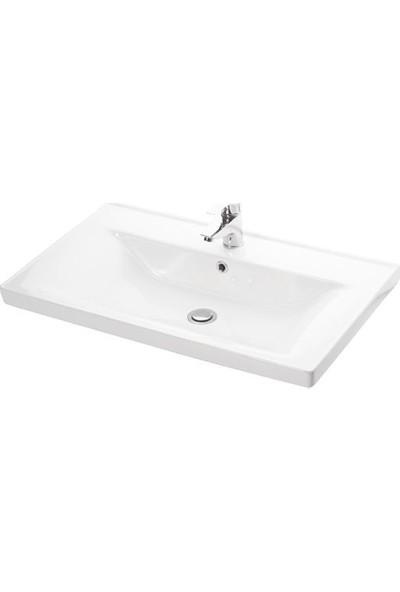 Lapino Sava 100 cm Konsollu Lavabo Beyaz Renk