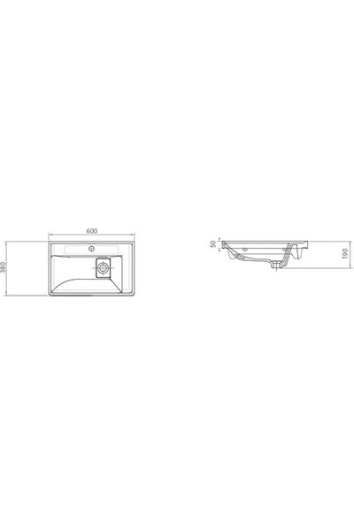 Lapino Quattro 60 cm Konsollu Etejerli Lavabo Beyaz Renk