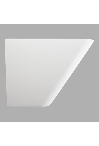 Lucco Moena 55 cm Yarım Monoblok Lavabo Beyaz
