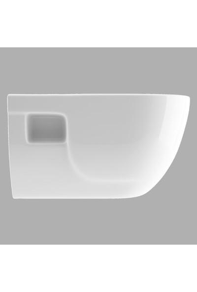 Lucco Brilla 53 cm Rim Art Asma Klozet Beyaz