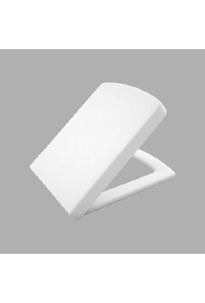 Lucco Loop Yavaş Kapanan Duroplast Beyaz Klozet Kapağı