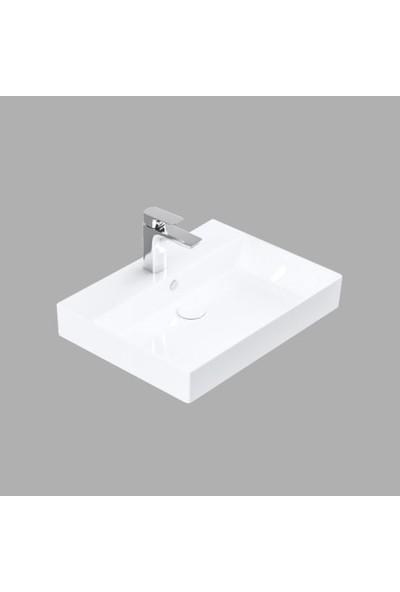 Lucco Stance 60 cm Konsollu Dikdörtgen Lavabo Beyaz