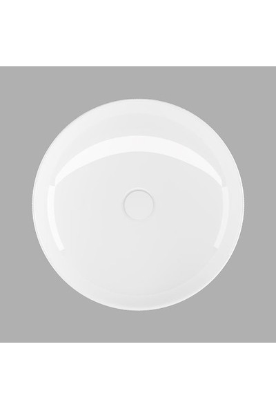 Lucco Lucente 43 cm Tezgah Üstü Oval Lavabo Beyaz