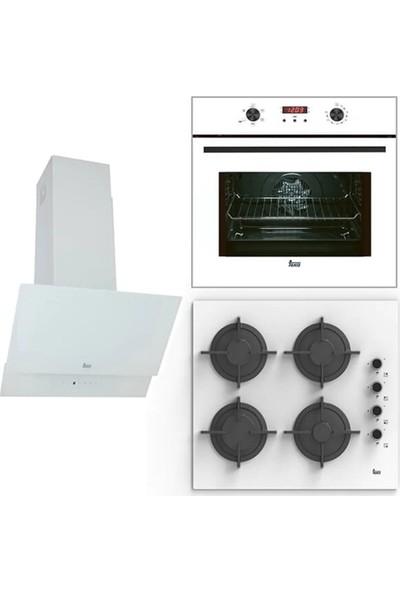 Teka Chef 3 Ankastre Set (HAK 625 W Fırın + HEL LUX 60 4G AI AL L Ocak + ATV 60 Davlumbaz)