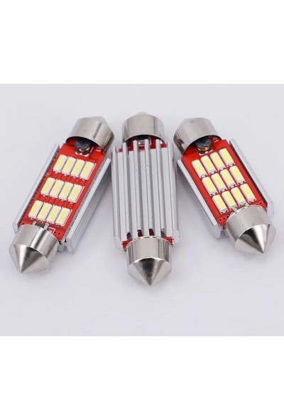 Hitshop Led Sofit Ampül Siemens Tipi 12 Ledli Beyaz Sofit Tavan Ve Plaka Ampülü 31 mm (Japon Tip) Canbus