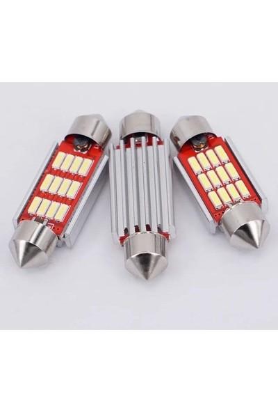Hitshop Led Sofit Ampül Siemens Tipi 12 Ledli Beyaz Sofit Tavan Ve Plaka Ampülü 36 mm Canbus (Standart)