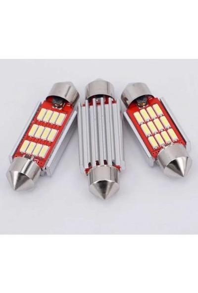 Hitshop Led Sofit Ampül Siemens Tipi 12 Ledli Beyaz Sofit Tavan Ve Plaka Ampülü 39 mm Canbus (Uzun)