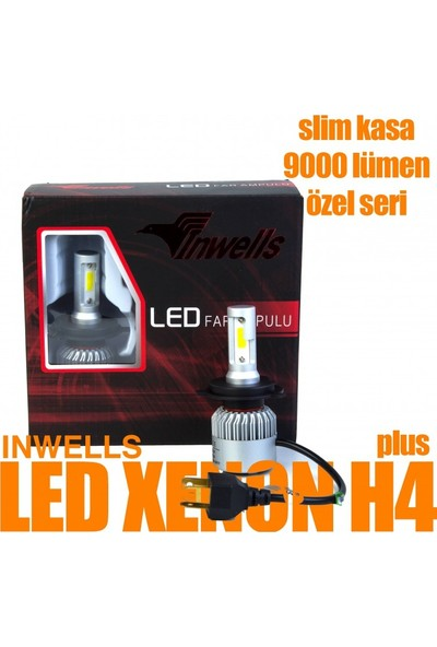 İnwells Led Xenon H4 Plus 9000 Lümen Özel Seri Slim Kasa