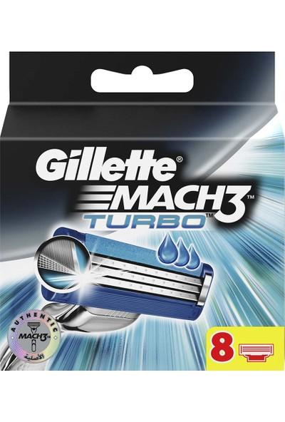 Gillette Mach 3 Turbo 8'li Yedek Tıraş Bıçağı Karton Paket