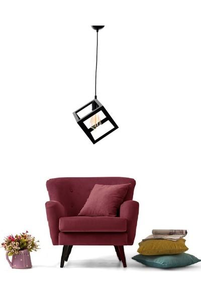 Hepsiniver Home Kare Geometrik Tekli Küp Sarkıt Galata Model Oturma Odası Koridor Mutfak Genç Odası Yatak Odası Ofis Avize