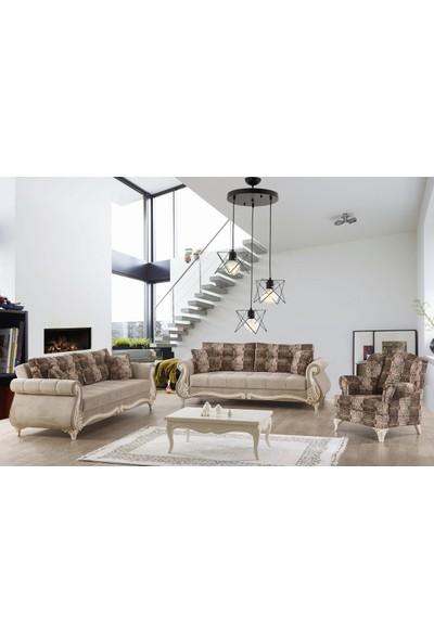 Hepsiniver Home Fulia Rustik 3'Lü XL Ebat Sarkıt Zigzag Salon Oturma Odası Yatak Odası Avizesi