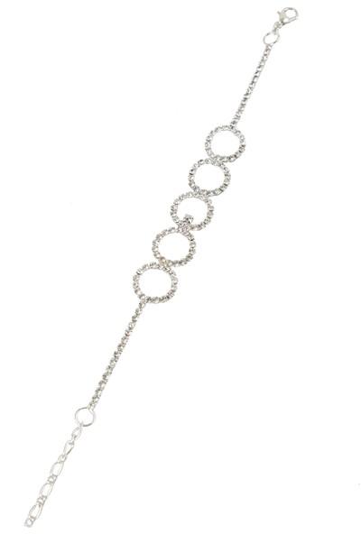 Fsg Takı Gümüş Kaplama Kristal Taşlı Bileklik