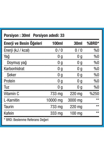 Xtreme Thermo L-Carnitine 3000 Mg 1000 ml Yeşil Elmalı