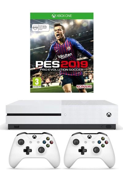 Microsoft Xbox One S 1 Tb Oyun Konsolu + Pes 19 + 2. Kol