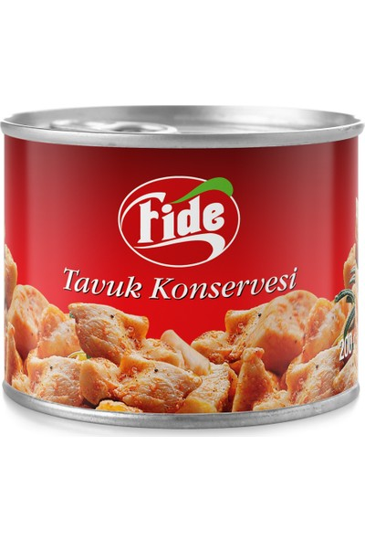Fide Tavuk Konservesi 200 gr / 48 Adet