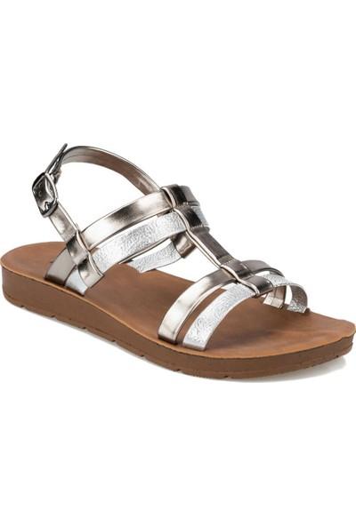 Polaris 91.313612Dz Gümüş Kadın Sandalet