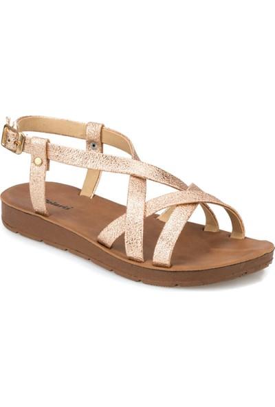 Polaris 91.313611.Z Altın Kadın Sandalet