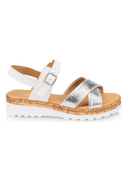Polaris 91.313526.Z Gümüş Kadın Sandalet
