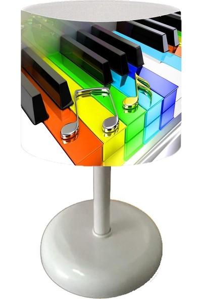 Cici Halı Renkli Piyano Tuşları Çocuk Bebek Odası Abajur