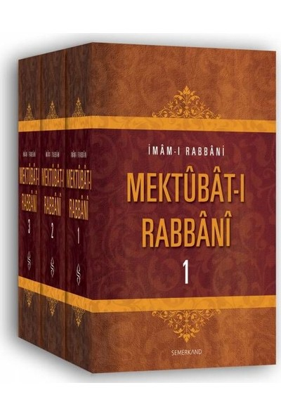 Mektubatı Rabbani (3 Cilt) - İmam-I Rabbani