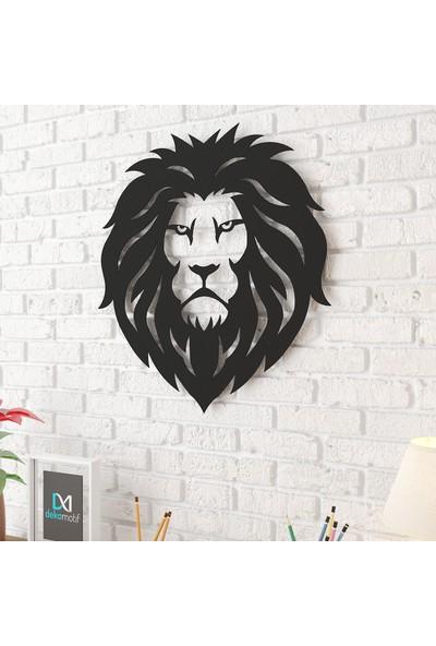 DekomotifDekomotif Aslan Metal Tablo Siyah Kullanışlı Şık Duvar Dekoru
