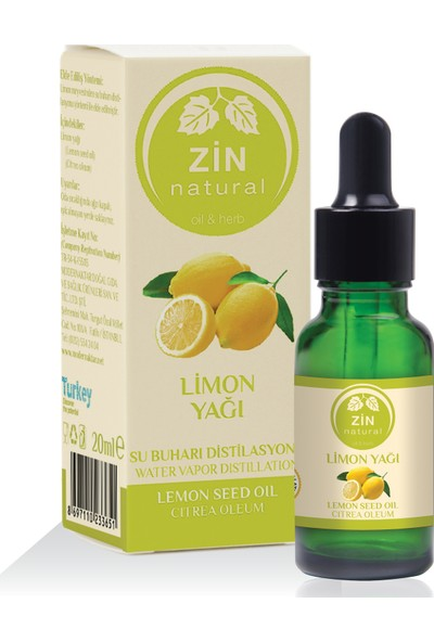 Zin Natural Li̇mon Yaği Lemon Oil 20 ml