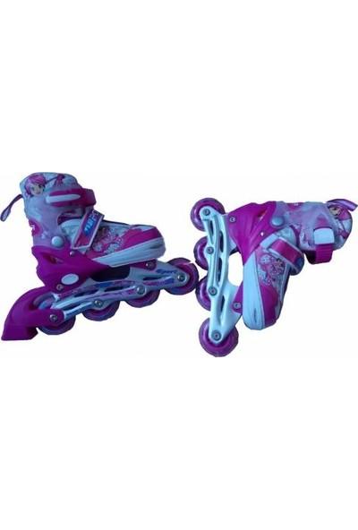 4 Tekeri Işıklı Ortopedik Alıştırma Pateni-Silikon Teker, Ortopedik ve Konforlu Ayakkabı Yapısı