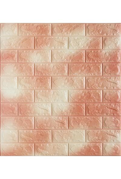 Renkli Duvarlar Çift Renk Tuğla Kendinden Yapışkanlı 3D Esnek Duvar Kaplama Paneli 12 Adet