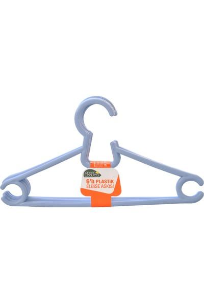 OMAK® Plastik Elbise Askısı 6'Lı