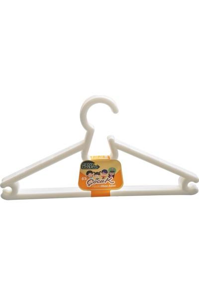 Decobella 6'lı Plastik Çocuk Elbise Askısı Asorti