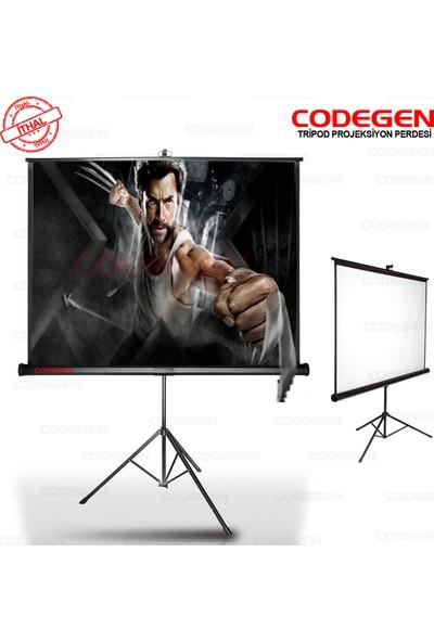 Codegen TX-20 200x200 Tripod (Ayaklı) Projeksiyon Perdesi (Arkası Siyah Fonlu)