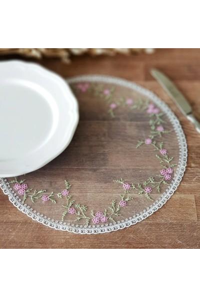 Funbou Dantel supla, floral pink