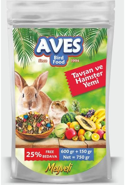 Aves Tavşan Hamster Kemirgen Yemi 750 gr