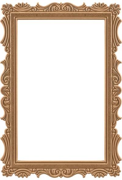 Obut's Home 8208 Papatya Di̇kdörtgen Ayna Ci̇lasiz Ahşap