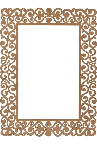 Obut's Home 8121 Mi̇raj Ayna Ci̇lasiz Ahşap