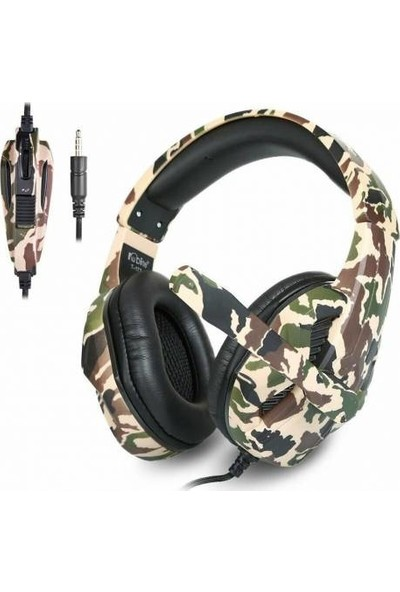 Kubite T-173 Kamuflaj Renkli Mikrofonlu Oyuncu Kulaklığı