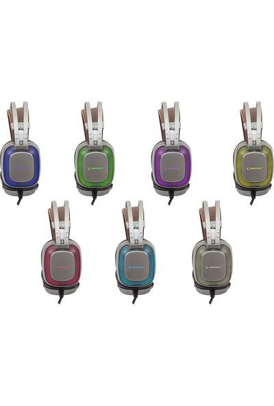 Rampage SN-RW77 Prestige Metalik Gri USB 7.1 Ergonomik Tasarım Gizli Mikrofonlu Oyuncu Kulaklık