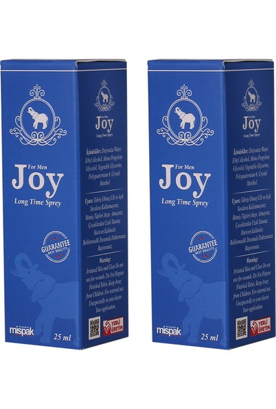 Joy For Men Sprey 25 ml - 2'li