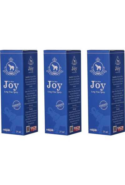 Joy For Men Sprey 25 ml - 3'lü